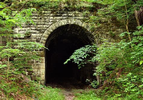 track wv abandoned railroad tunnel tunnel 19 which sits abandoned outside of cairo west