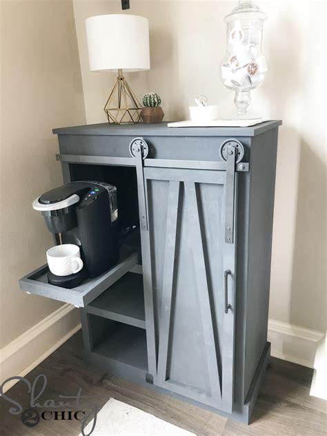 small under cabinet coffee maker diy barn door coffee cabinet shanty 2 chic