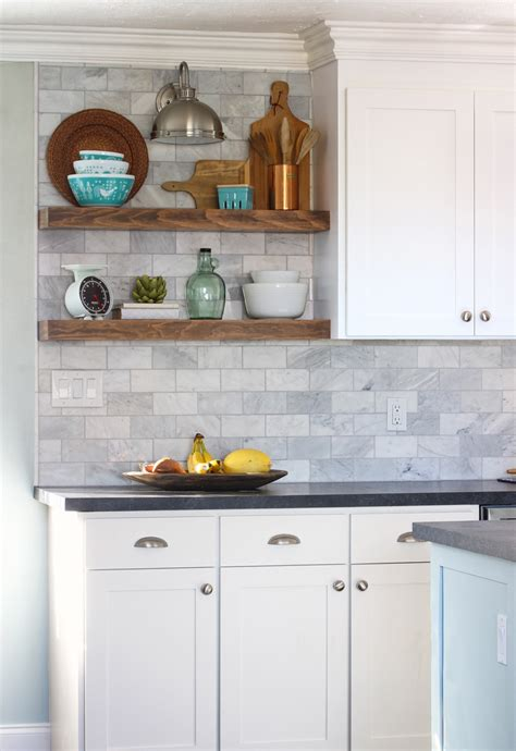 the craft patch how to install floating kitchen shelves