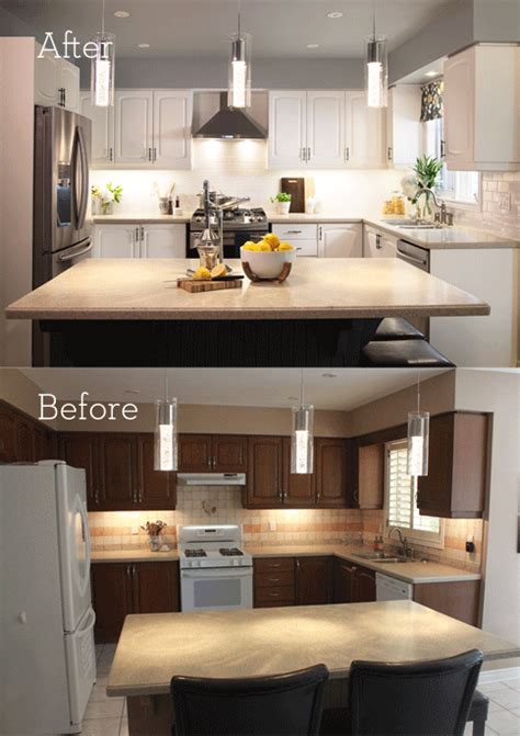 cheap kitchen makeover ideas before and after kitchen makeover on a budget tips by leigh allaire