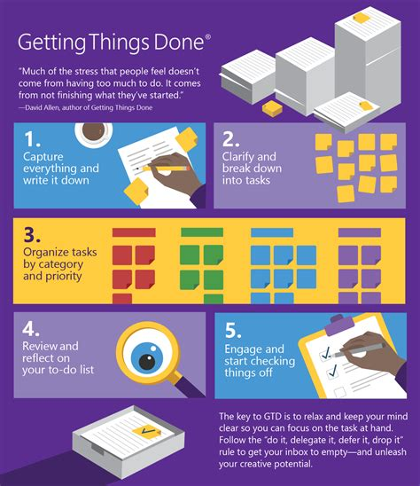 Getting Things Done work smarter not harder getting things done microsoft
