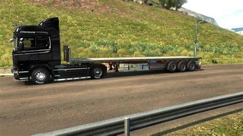 truck bed trailer cer empty flat bed 1 27 x trailer mod ets2 mod