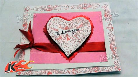 How To Make Handmade Greeting Cards For Boyfriend - diy how to make quot i you quot greeting card jk arts 153