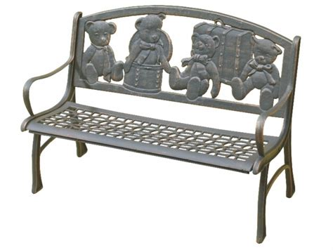 kids bench seat kids cast iron bench seat bear fiveways new used