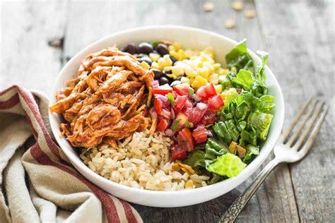 bbq chicken burrito bowl recipe simplyrecipes com