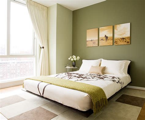 brown and green bedroom platform bed transitional bedroom susan kennedy design