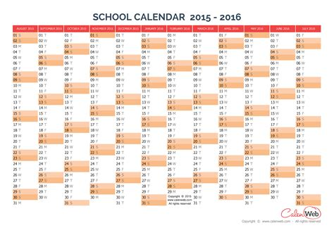 2017 2018 school year calendar template education world