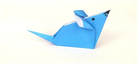 Basic Paper Folding - how to fold a simple origami mouse 171 tavin s origami