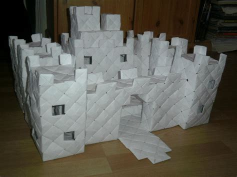 How To Make A Origami Castle - modular origami castle 1 by fuzzymo1994 on deviantart