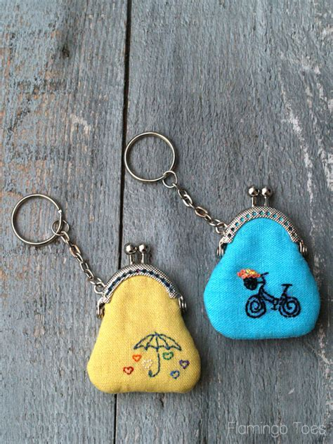 how to make keychains with coin keychain diy images