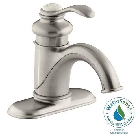 kohler fairfax single single handle low arc water
