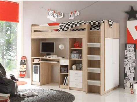 camas altas con escritorio abajo 15 camas literas modernas y pr 225 cticas mil ideas de