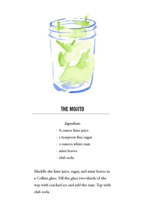 cocktail recipe cards 17 best images about recipe theme mojito cocktail