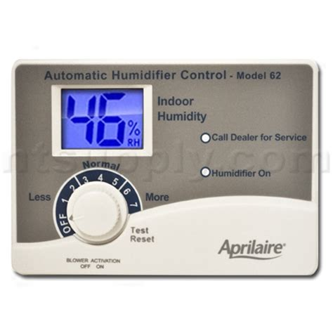 aprilaire change water panel light buy aprilaire 62 humidistat with blower activation