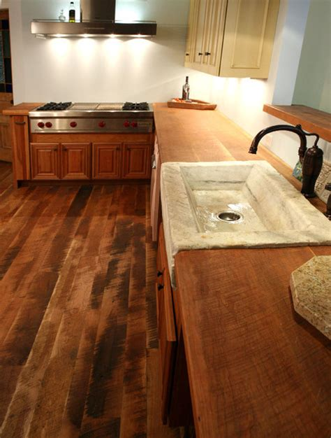 Wood Flooring For Countertops by Traditional Plank Cherry Flooring Countertop Traditional