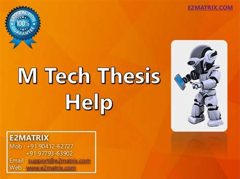 M Thesis by M Tech Thesis 28 Images M Tech Thesis Help In