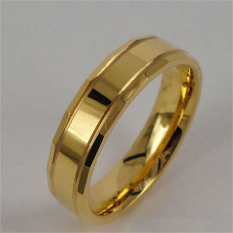gold plated tungsten ring tungsten jewelry stainless