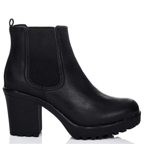 spylovebuy yael black ankle boots shoes at spylovebuy