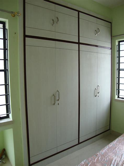 Simple Bedroom Wardrobe Designs Plain Simple Wardrobe Design Gharexpert