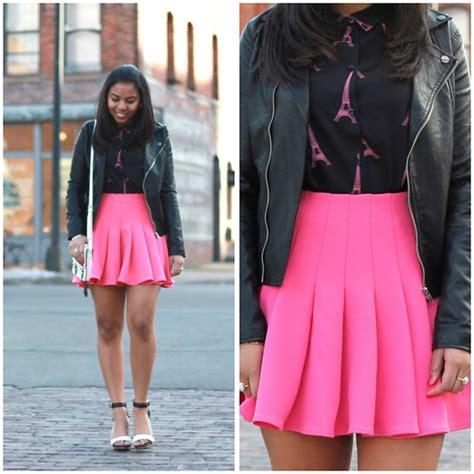 macailah maxwell h m le eiffel tower blouse h m pink