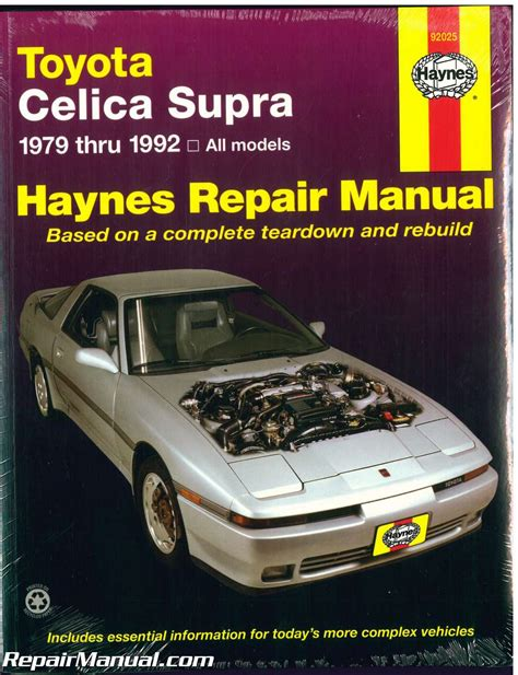 free car repair manuals 1982 toyota celica spare parts catalogs haynes toyota celica supra 1979 1992 auto repair manual