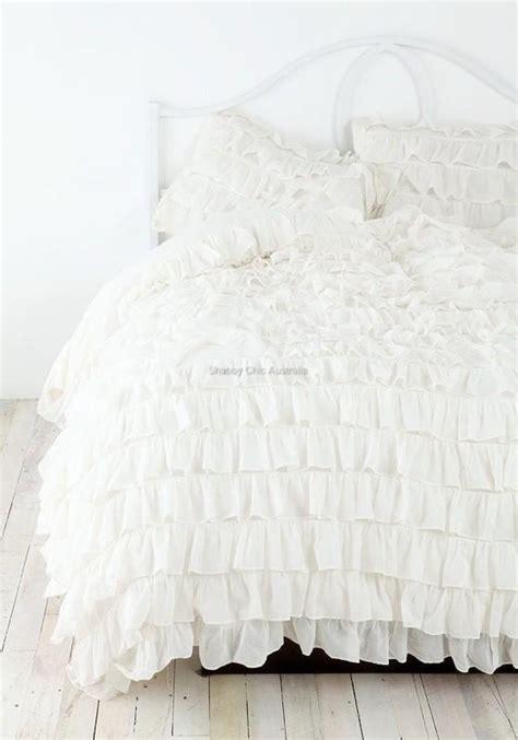 ivory ruffle bedding shabby petticoat ruffle chic ivory ruffled queen bed duvet
