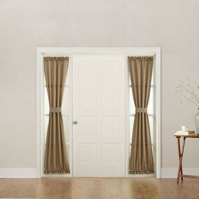 jcpenney sidelight curtains sun zero emory room darkening rod pocket sidelight curtain