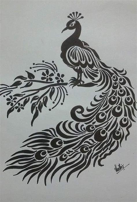Home Decor Blogs 2015 by Pencil Sketch Of Peacock Drawing By Kanaga Rajesh