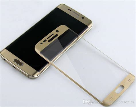 S7 Flat Tempered Glass Color Edge Gold Color 100 Premium 1 best for samsung galaxy s6 edge curved tempered glass