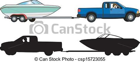 how to draw a boat on a trailer boat trailer vector illustration of a means of transport