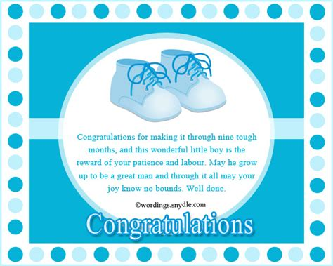 Baby Shower Wishes For Baby Boy by Congratulation Messages For New Born Baby Boy Wordings