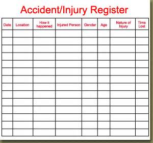 Incident Report Register Template by Incident Report Register Template 5 Employee