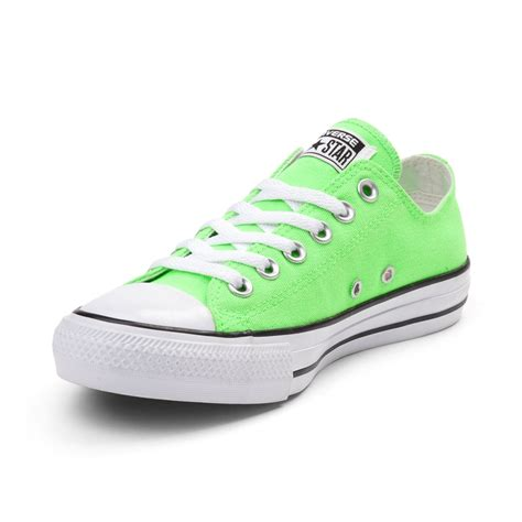 green converse sneakers converse chuck all lo neon sneaker green