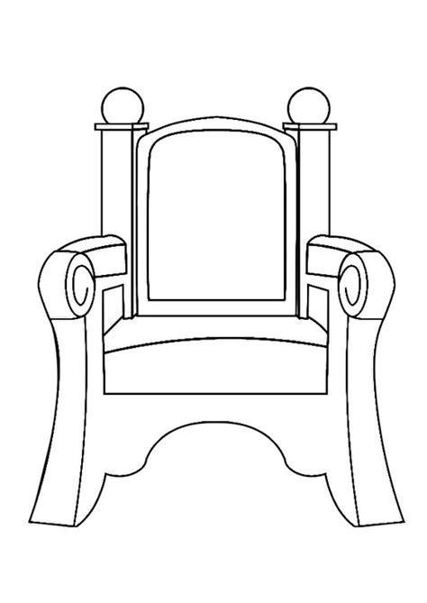 stuhl zum ausmalen malvorlage sankt nikolaus stuhl ausmalbild 29047