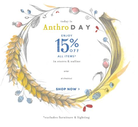 effortlessly with anthro day is back take 15