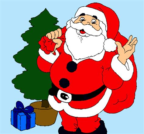 como dibujar a santa claus dibujos de navidad para dibujo de santa claus y un 225 rbol de navidad pintado por