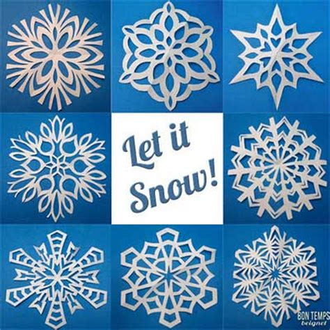 How To Make Fancy Paper Snowflakes - copos de nieve de papel bueno bonito y barato