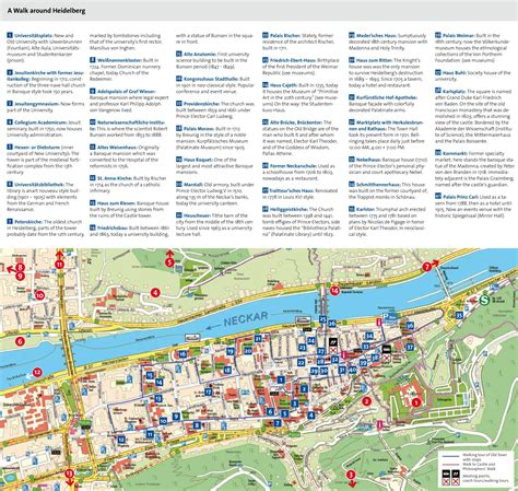 tourist map germany heidelberg tourist attractions map