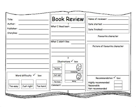 childrens book templates best 10 book review template ideas on book