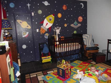 space the frontier space themed nursery