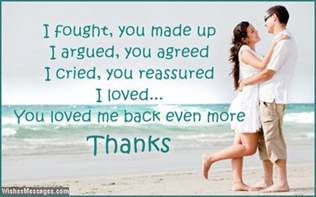Thank You Love Letter Husband 31 i fought you made up i argued you agreed i cried you