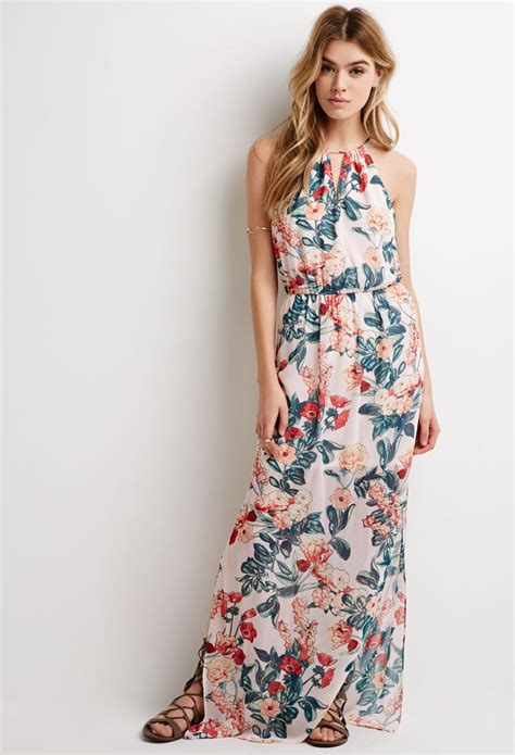 Flowery Dress Maxi floral maxi dress forever 21