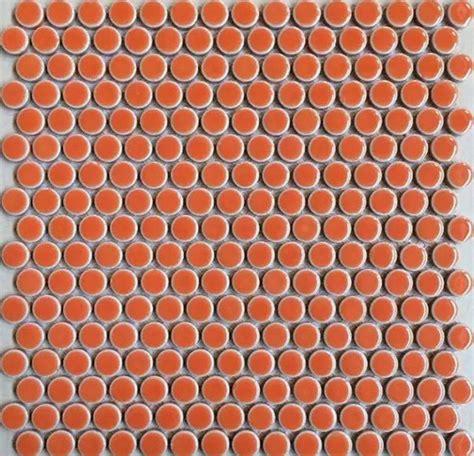 Penny  Porcelain Orange Tile