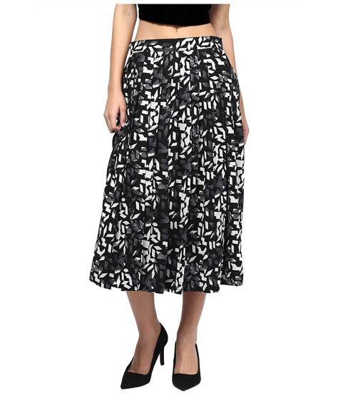 martini black buy martini black polyester midi skirt at best