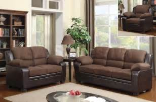two tone chocolate microfiber brown sofa set sofa