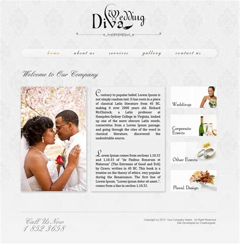 wedding site template wedding website psd template creativegeek
