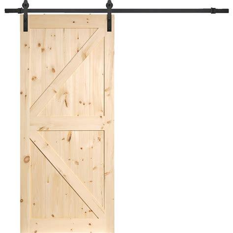 erias home designs unfinished barn door 24 9590 do it best