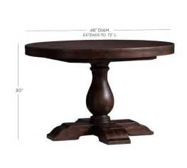 pottery barn pedestal dining table lorraine pedestal table pottery barn