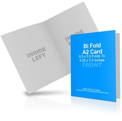 Vertical Fold Card Template by A2 Bi Fold Card Mockup Cover Actions Premium Mockup