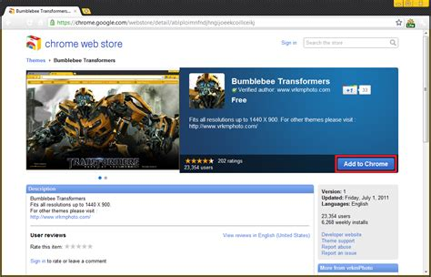 awesome themes for google chrome cool transformers 3 theme for google chrome browser i